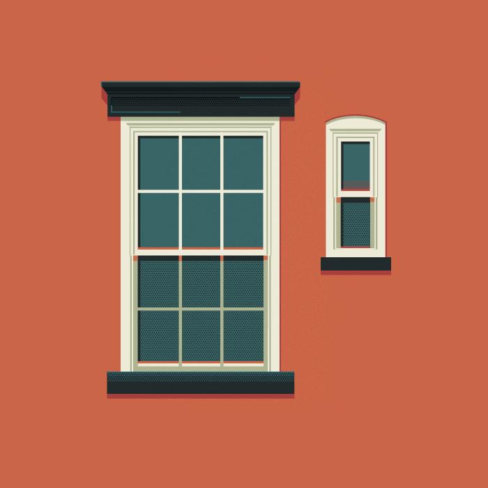 Dibujo el tornillo que te falta for Window design vector