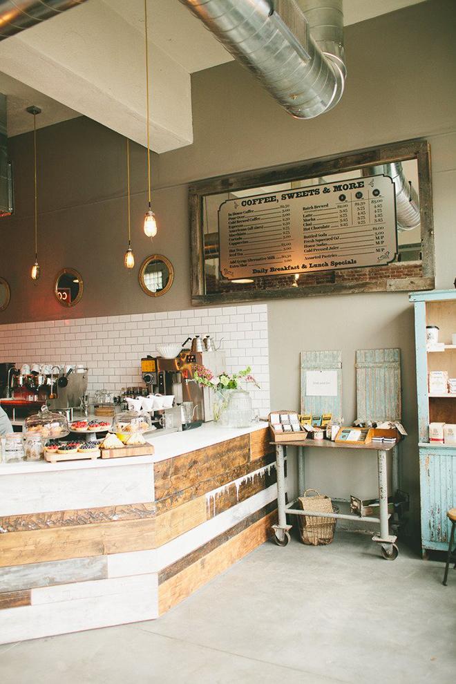 Black Eye Coffee Shop  Denver  Interesting Bar Idea  Mirror Custom Coffee Shop Kitchen Design Decorating Inspiration