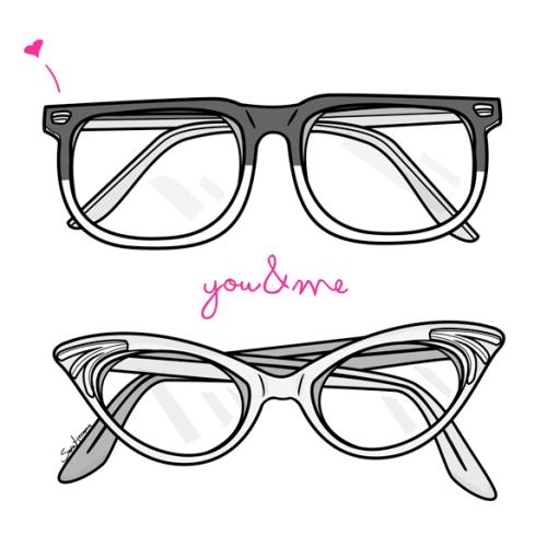me encantan tus gafas. pero nuestros niños serán miopes.