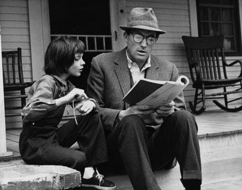Gregory Peck y Mary Badham en Matar a un Ruiseñor