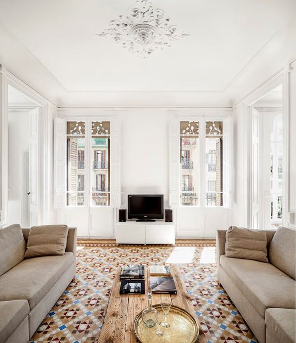 Reforma de un piso en el eixample de barcelona el for Decoracion piso eixample