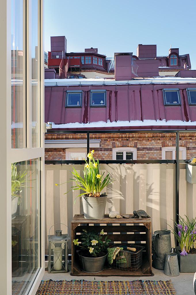 Ideas para una peque a terraza el tornillo que te falta - Como decorar una terraza con plantas ...
