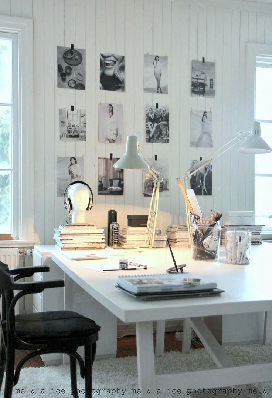 Un espacio de trabajo en casa el tornillo que te falta - Beautiful home office interior ...