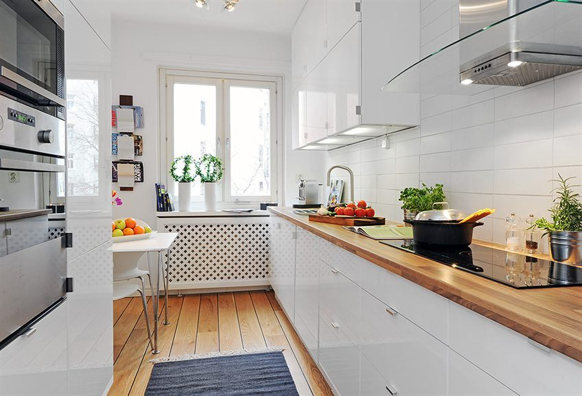 encimera madera cocina