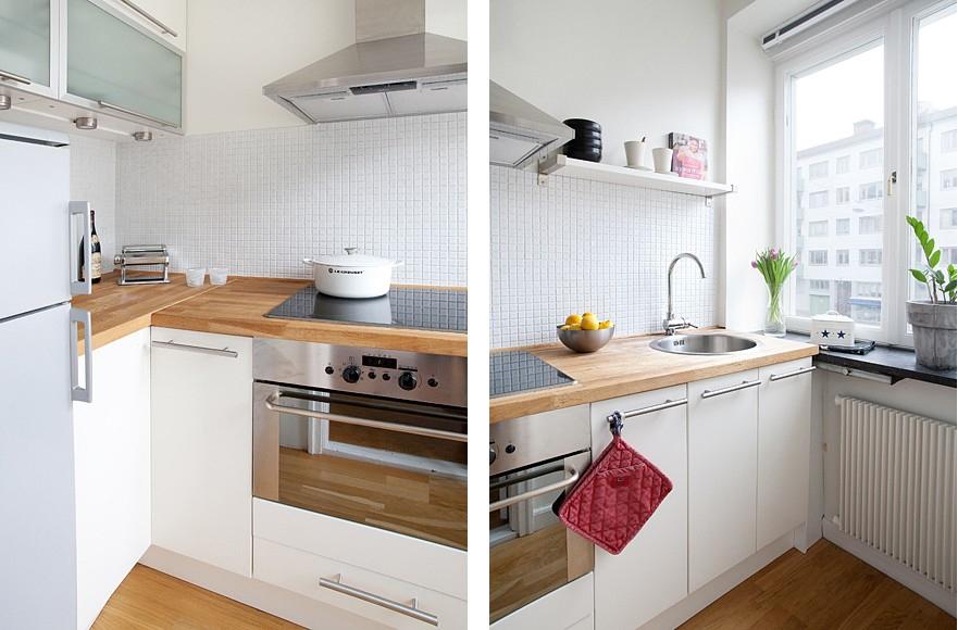 Encimeras de madera para la cocina el tornillo que te falta for Cocina 11 metros cuadrados