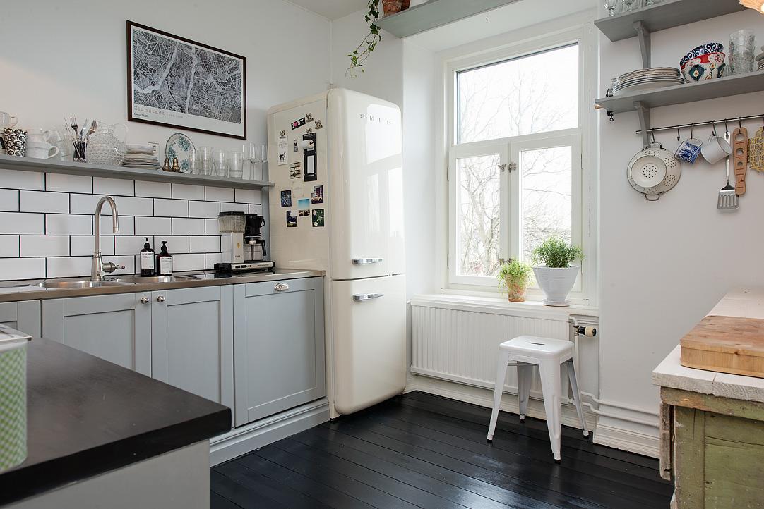 Vivienda con toques vintage en g teborg el tornillo que te falta - Cocinas escandinavas ...