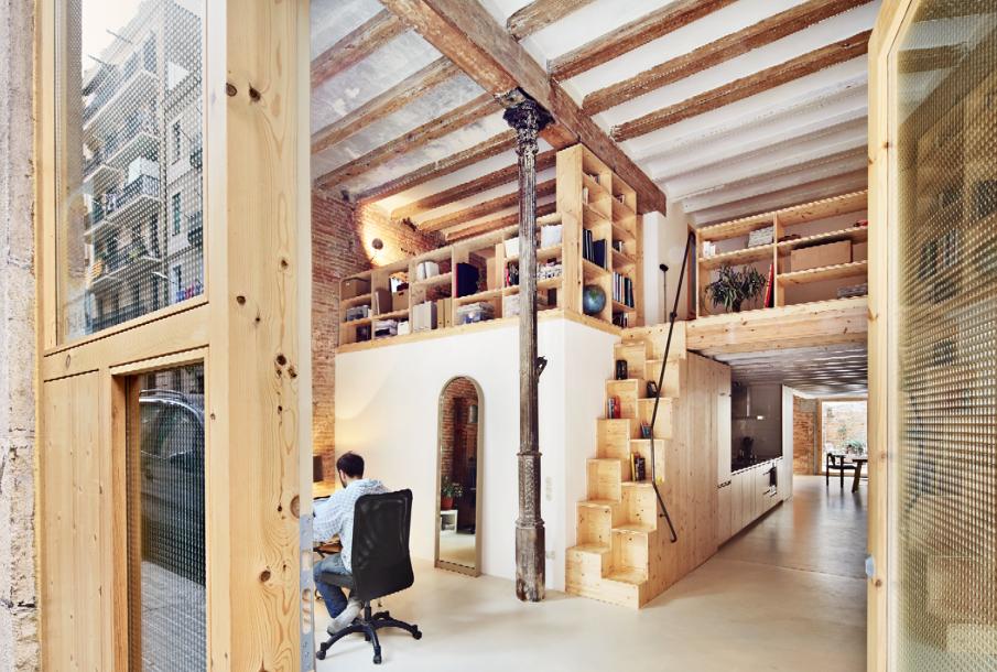 Reforma de una vivienda en el poble sec de barcelona el - Pintores de viviendas ...